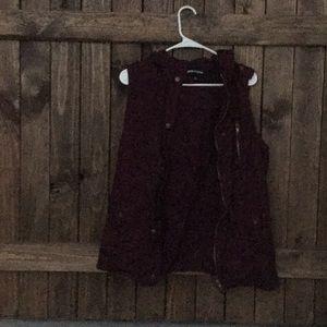 Women's Burgundy utility vest